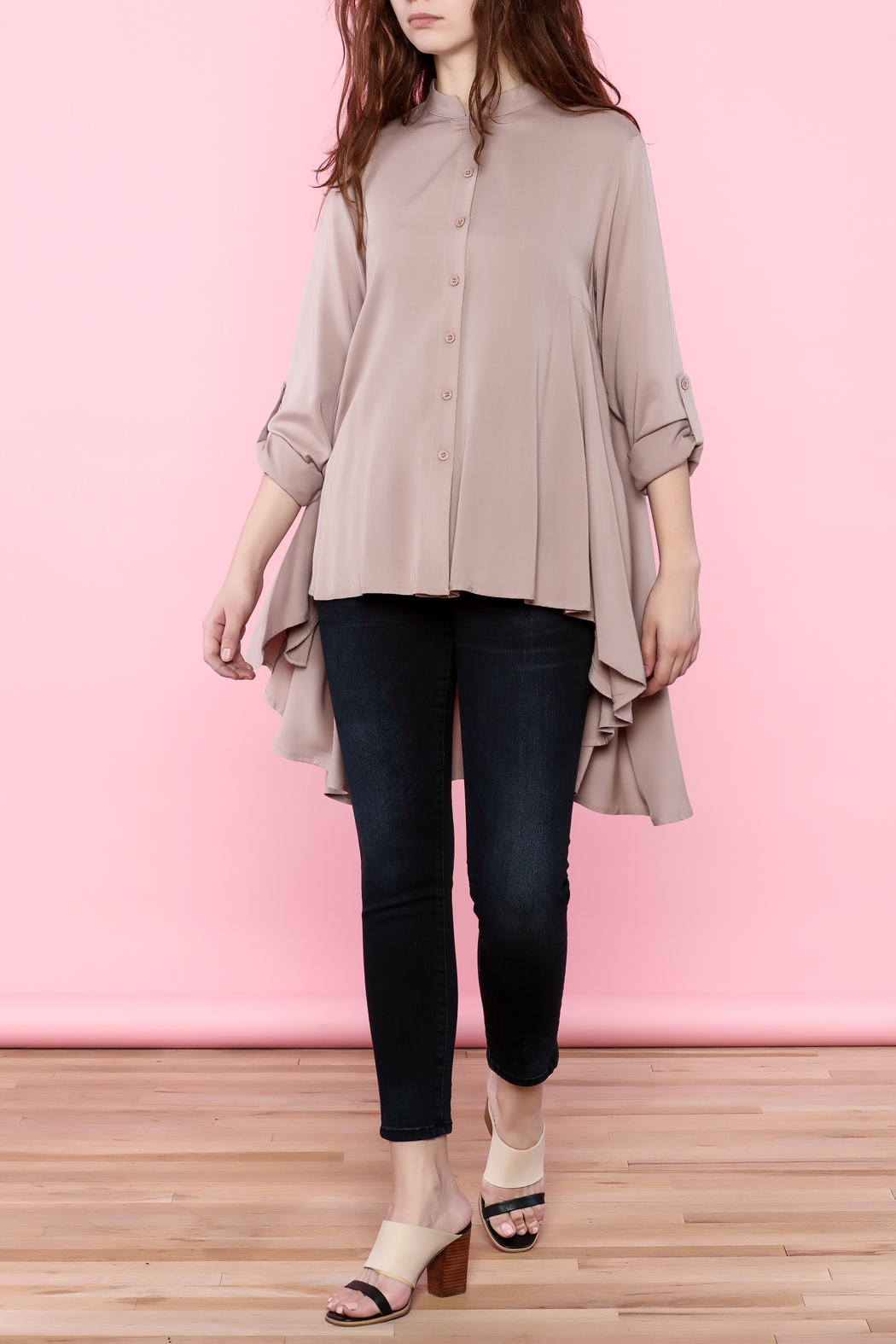 Tea n Rose Blush Pink Top - Front Full Image