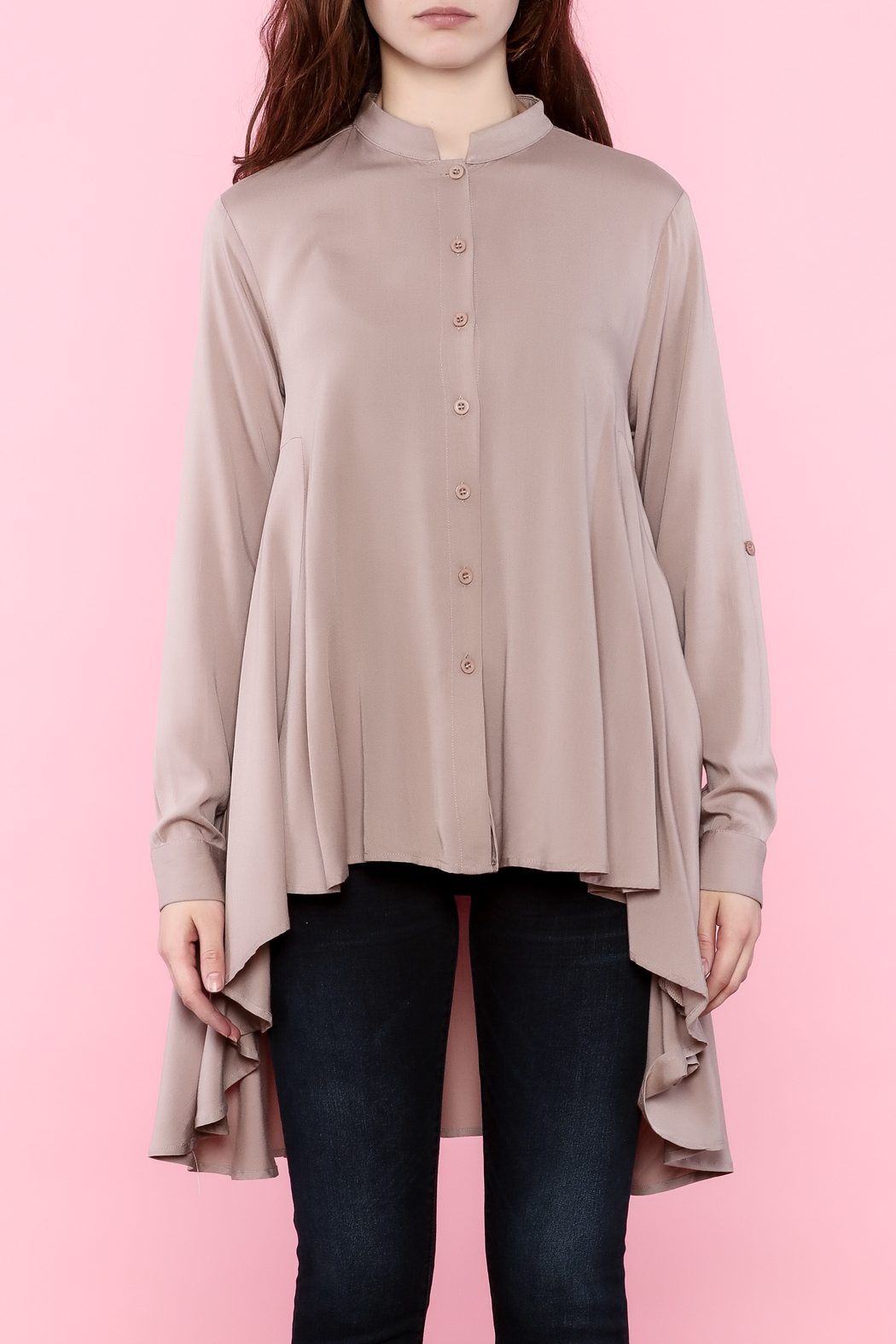 Tea n Rose Blush Pink Top - Side Cropped Image