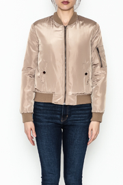 Tea n Rose Mocha Bomber Jacket - Front full body