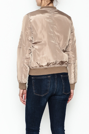 Tea n Rose Mocha Bomber Jacket - Back cropped