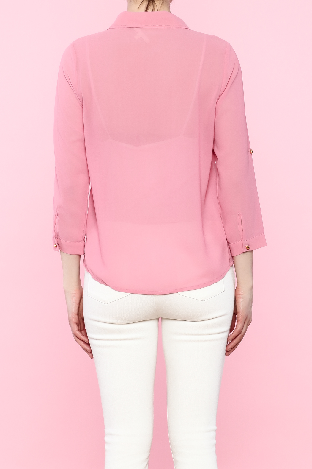 Tea N Rose Pink Flower Blouse From Indiana By Athenas Fashion