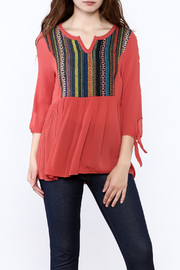 Tea n Rose Sausilito Embroidered Top - Front cropped