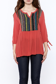 Tea n Rose Sausilito Embroidered Top - Side cropped