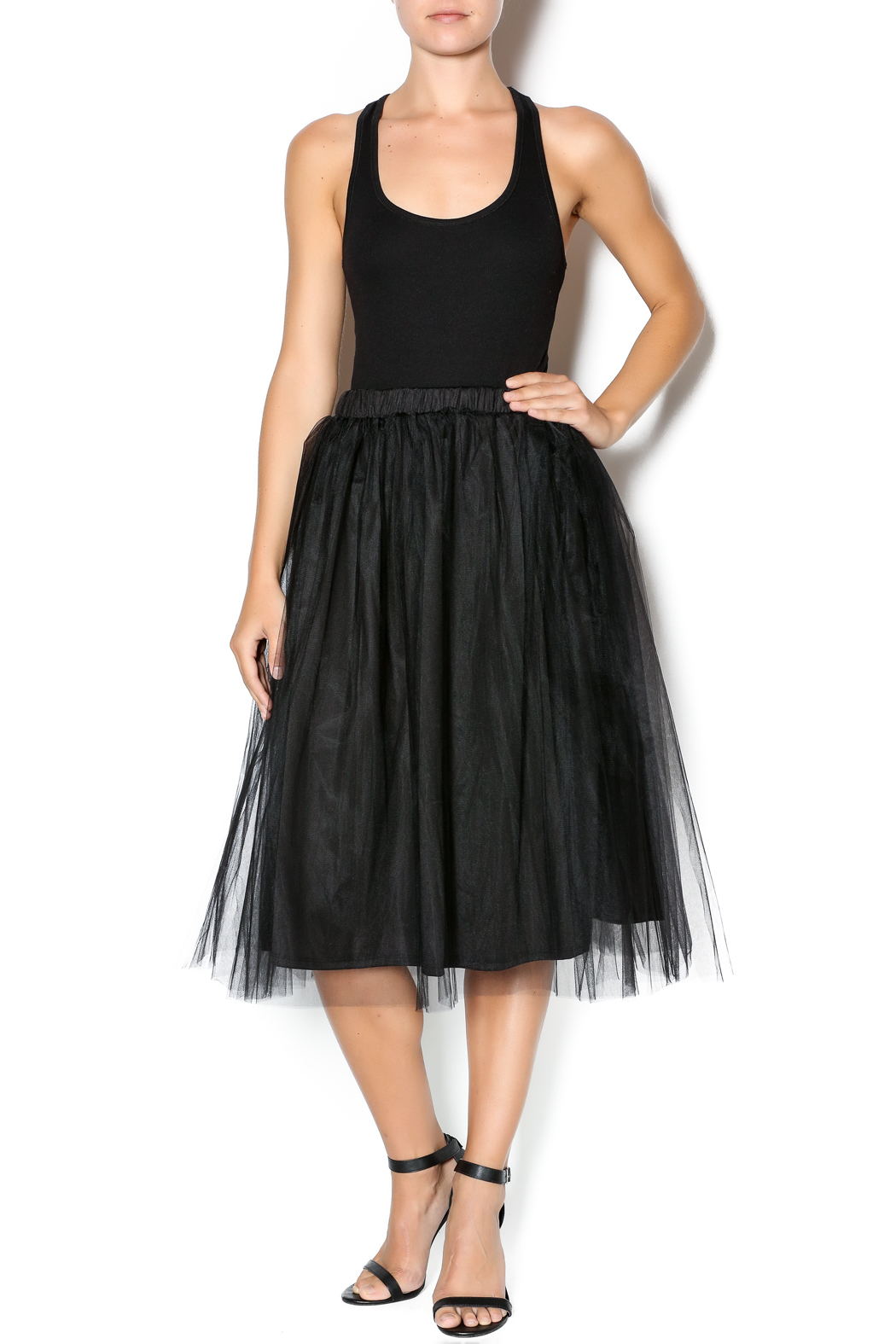 tea n tulle midi skirt from new jersey by
