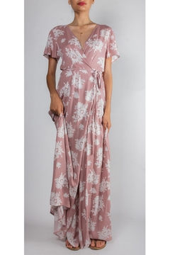 Shoptiques Product: Tea-Party Floral Wrap-Dress