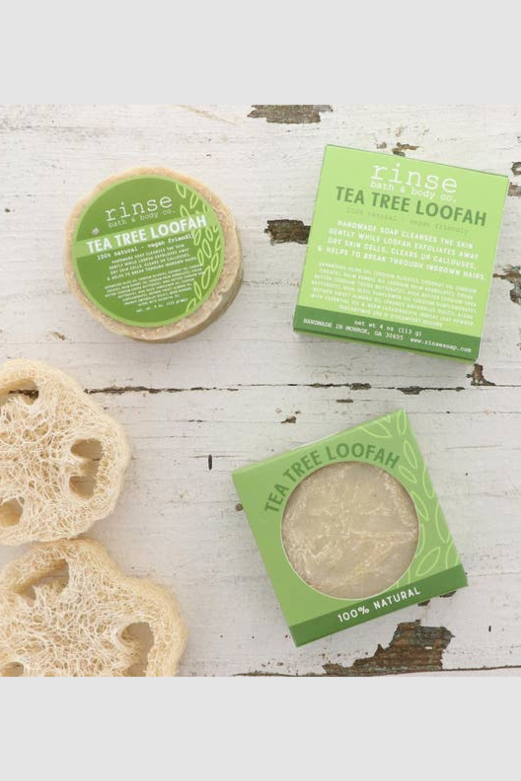Rinse Bath & Body  Tea Tree Loofah Soap - Front Cropped Image
