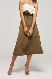 Tea & Cup Belted A Line Skirt - Product Mini Image