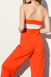 Tea & Cup Colorblock Jumpsuit - Front full body