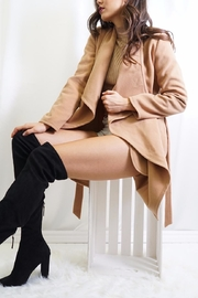 Tea & Cup Faux Suede Coat - Side cropped