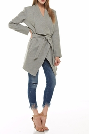 Tea & Cup Faux Suede Coat - Back cropped