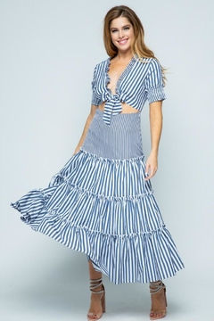 Tea & Cup Striped Layered Dress - Product List Image