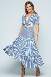 Tea & Cup Striped Layered Dress - Product Mini Image
