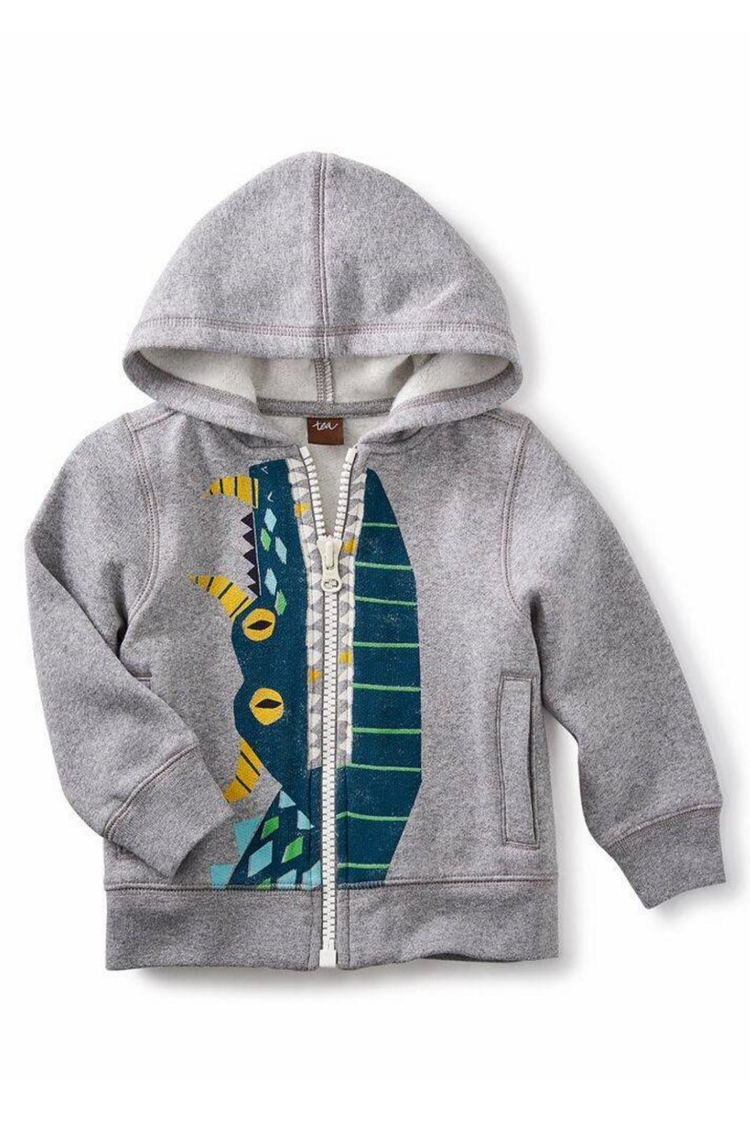 Tea Collection Dragon Zip Hoodie - Front Cropped Image