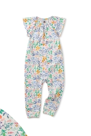 Tea Collection Flutter-Sleeve Baby Romper - Product Mini Image