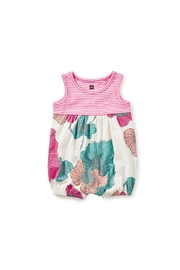 Tea Collection Two Tone Floral Romper - Product Mini Image