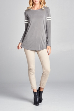 Tea n Rose Casual Stripes Top - Alternate List Image