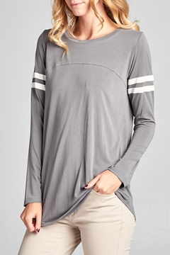 Tea n Rose Casual Stripes Top - Product List Image