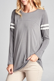 Tea n Rose Casual Stripes Top - Front cropped