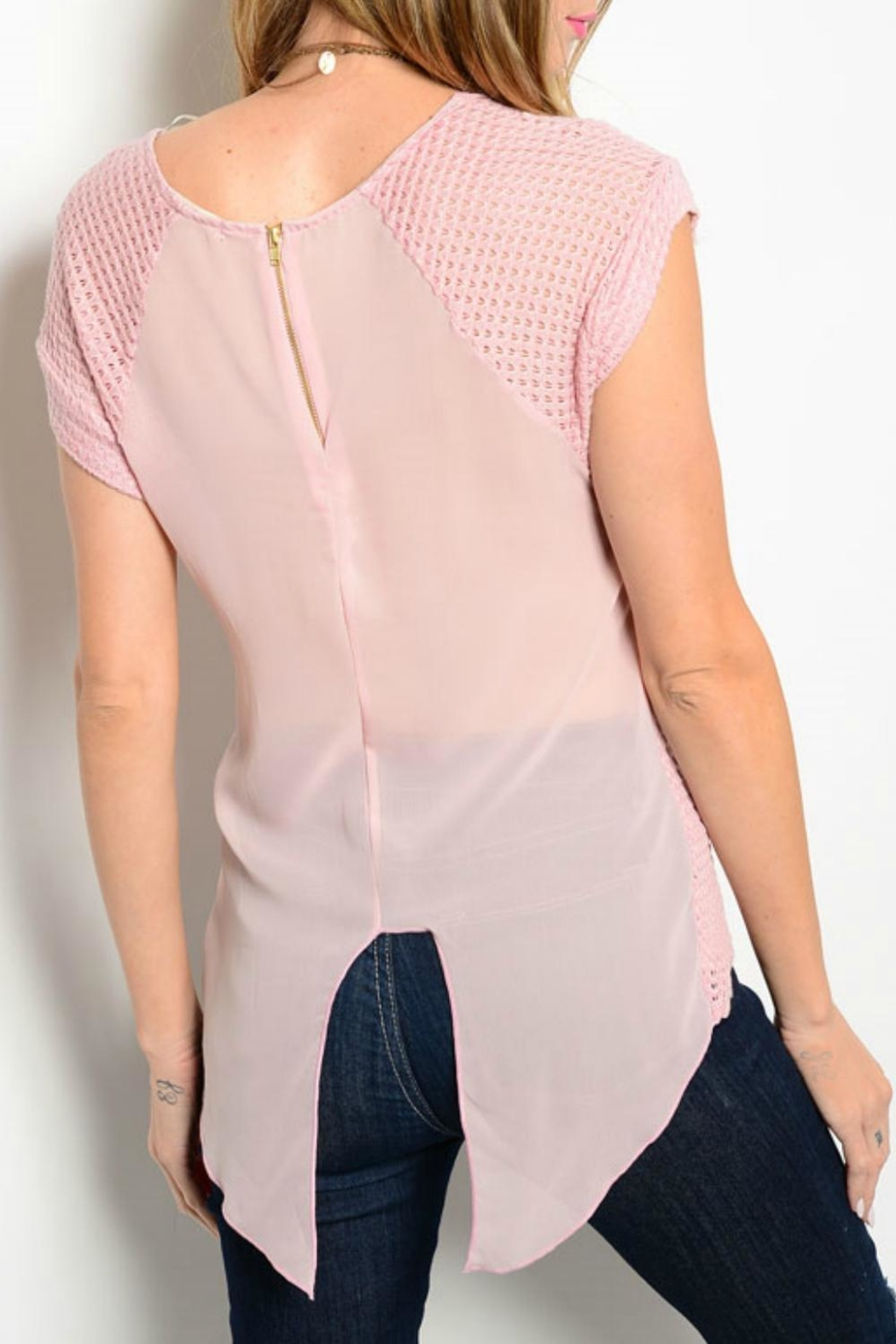 Tea n Rose Dusty Pink Top - Front Full Image