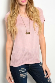 Tea n Rose Dusty Pink Top - Front cropped