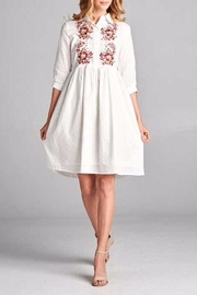 Tea n Rose Embroidered Eyelet Dress - Product Mini Image