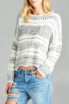 Shoptiques Product: Fuzy Cropped Sweater