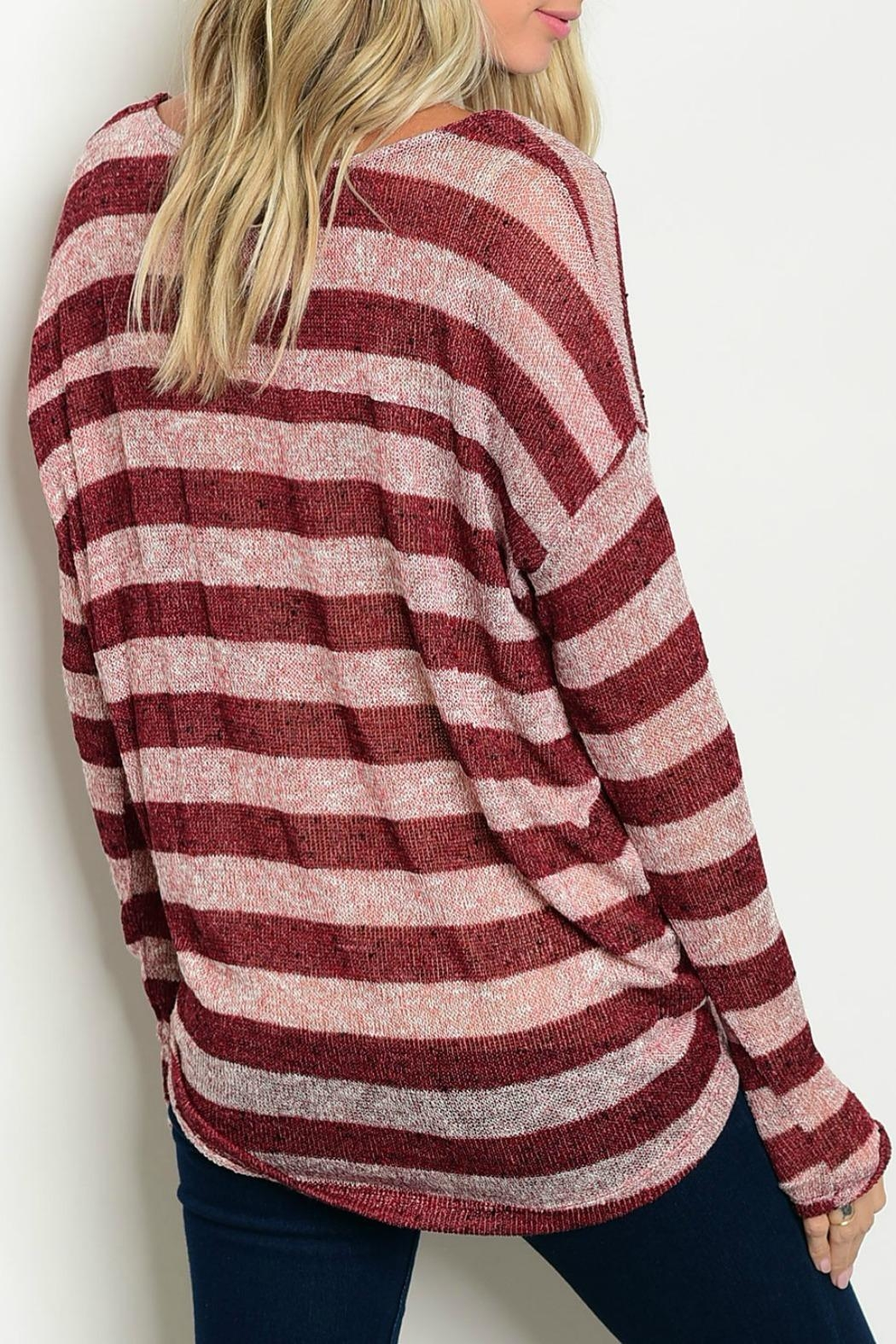 Tea n Rose Lightweight Striped Sweater - Front Full Image