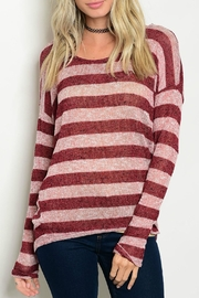 Tea n Rose Lightweight Striped Sweater - Front cropped