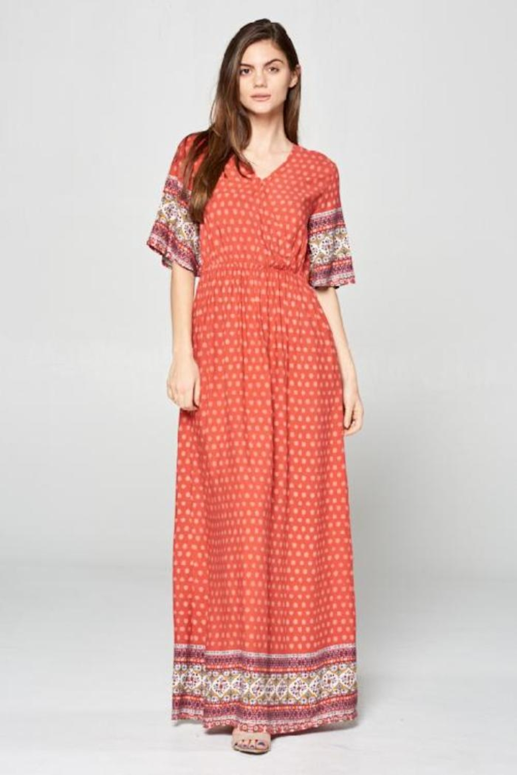 Tea n Rose Poppy Dress - Front Cropped Image