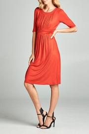 Tea n Rose Ruched Dress - Product Mini Image
