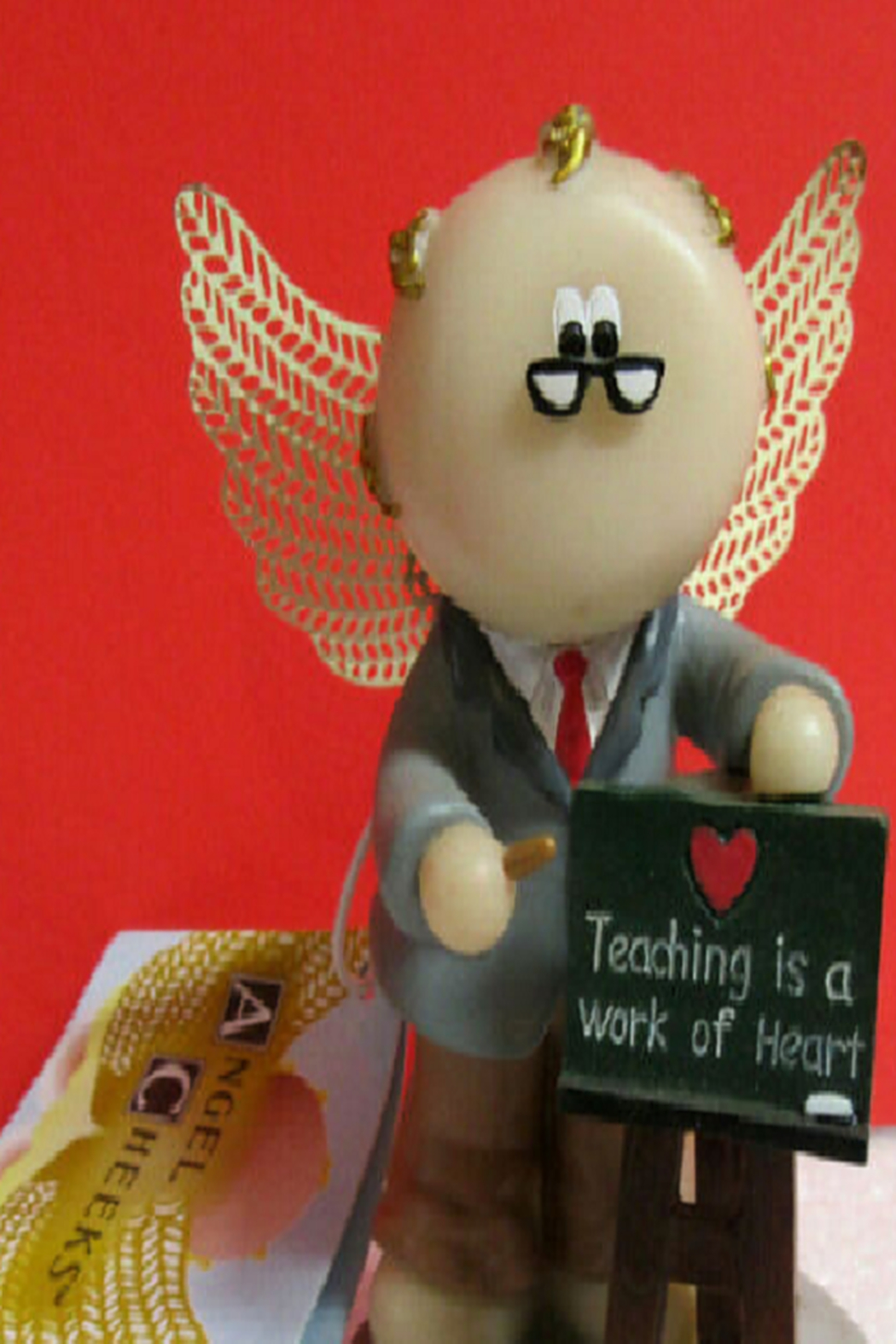 Russ Berrie Teacher Angel Cheeks - Front Cropped Image