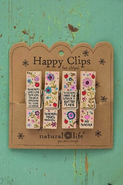 Natural Life Teacher Happy Clips - Product List Image