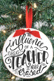 Clairmont & Co Teacher Ornament - Front cropped