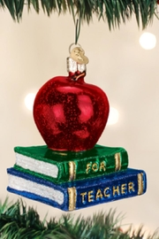 Old World Christmas Teacher's Apple Ornament - Product Mini Image
