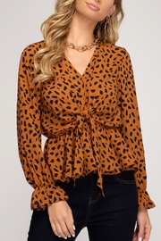She + Sky Teagan Cheetah Tie Top - Product Mini Image