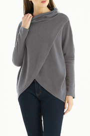 Kay Celine Teagan Sherpa Cowl Crossover Sweater - Product Mini Image