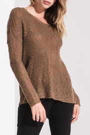 rag poets Teak Open-Back Sweater - Product Mini Image