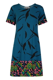 Leota Teal & Black Dress - Product Mini Image