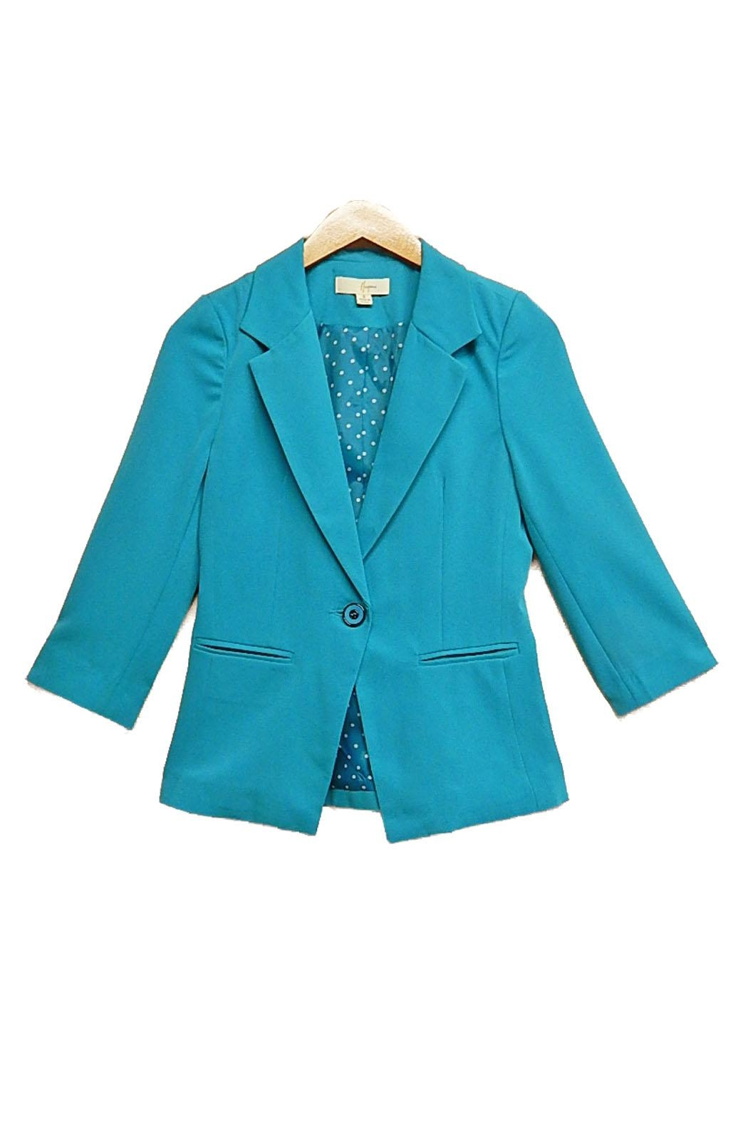 Hesperus Teal Blazer - Front Cropped Image