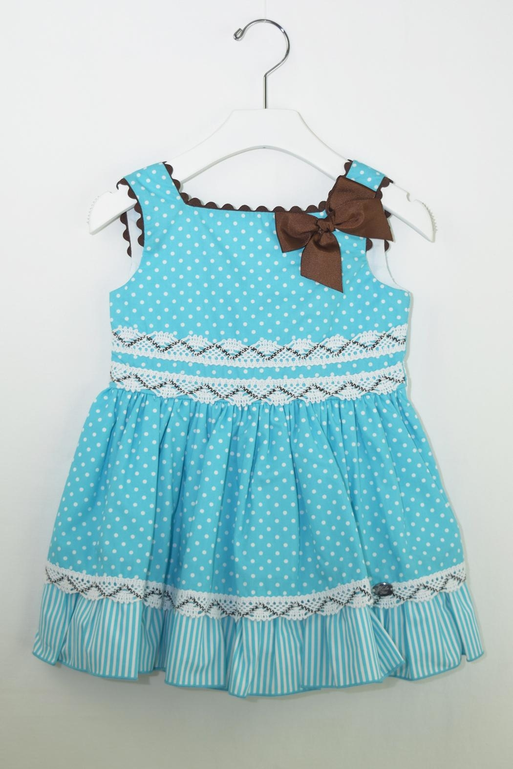 Dolce Petit Teal & Brown Dress - Main Image
