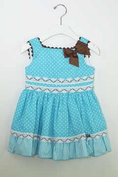 Dolce Petit Teal & Brown Dress - Product List Image