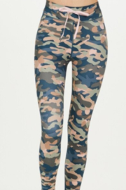 Upside Teal Camouflage Legging - Front full body