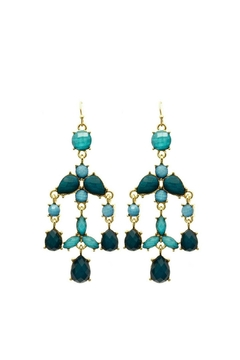 Mimi's Gift Gallery Teal Chandelier Earrings - Product List Image