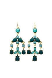 Mimi's Gift Gallery Teal Chandelier Earrings - Product Mini Image
