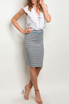 Shoptiques Product: Teal Coral Skirt