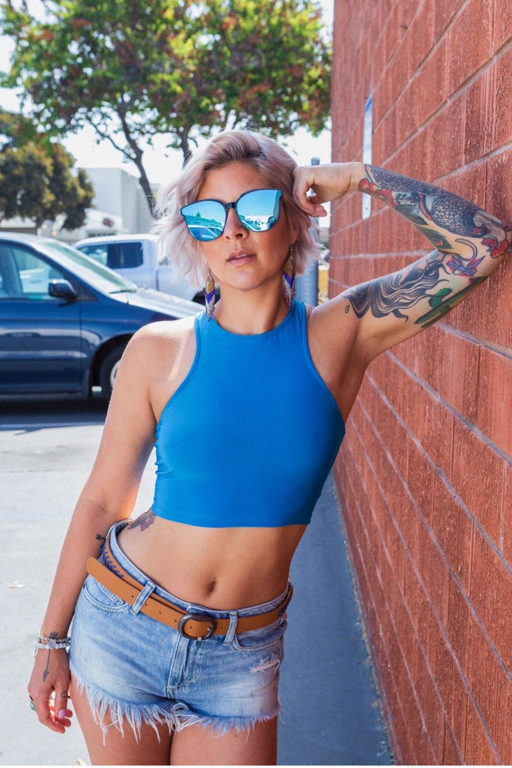 Minx Teal Crop - Front Cropped Image