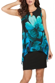 Frank Lyman Teal Floral Dress - Product Mini Image