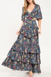 Latiste Teal Floral Dress - Product Mini Image