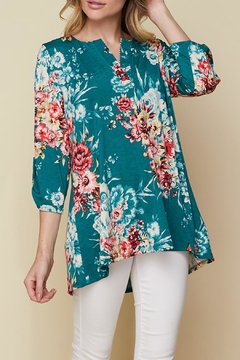 honeyme Teal Floral Top - Product List Image