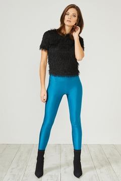 Urban Touch Teal Glitter Leggings - Product List Image